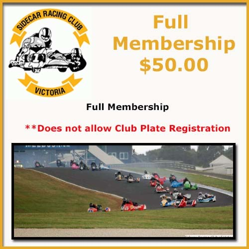 Purchase Full Membership with the Sidecar Racing Club of Victoria