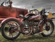 Vintage Indian with Sidecar perfect for the Club Plate Scheme