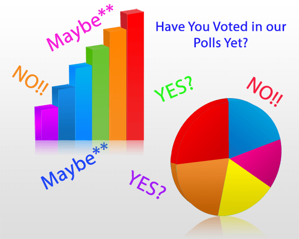 Have You Voted In Our Polls Yet?