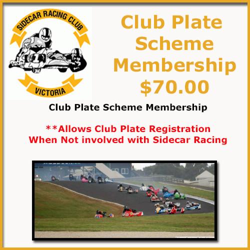 Club Plate Scheme Membership