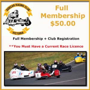 Purchase Full Membership + Club Registration with a current Race Licence