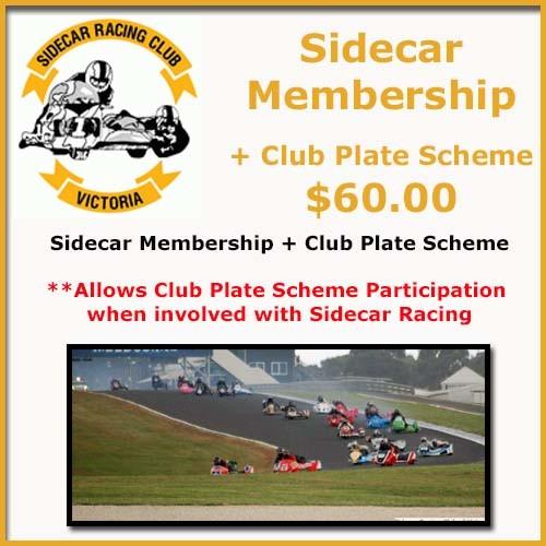 Sidecar Memership Plus Club Plate Scheme