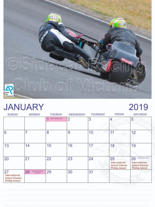 SCRCV Calendar 2019