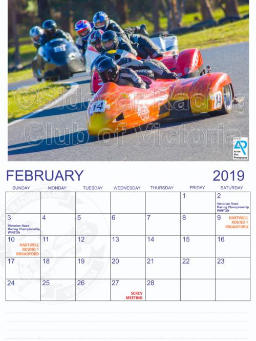 SCRCV Calendar February 2019